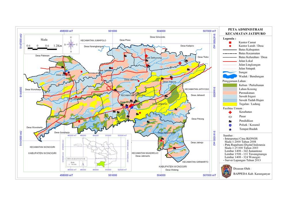 Peta Wilayah Administrasi Kecamatan Jatipuro