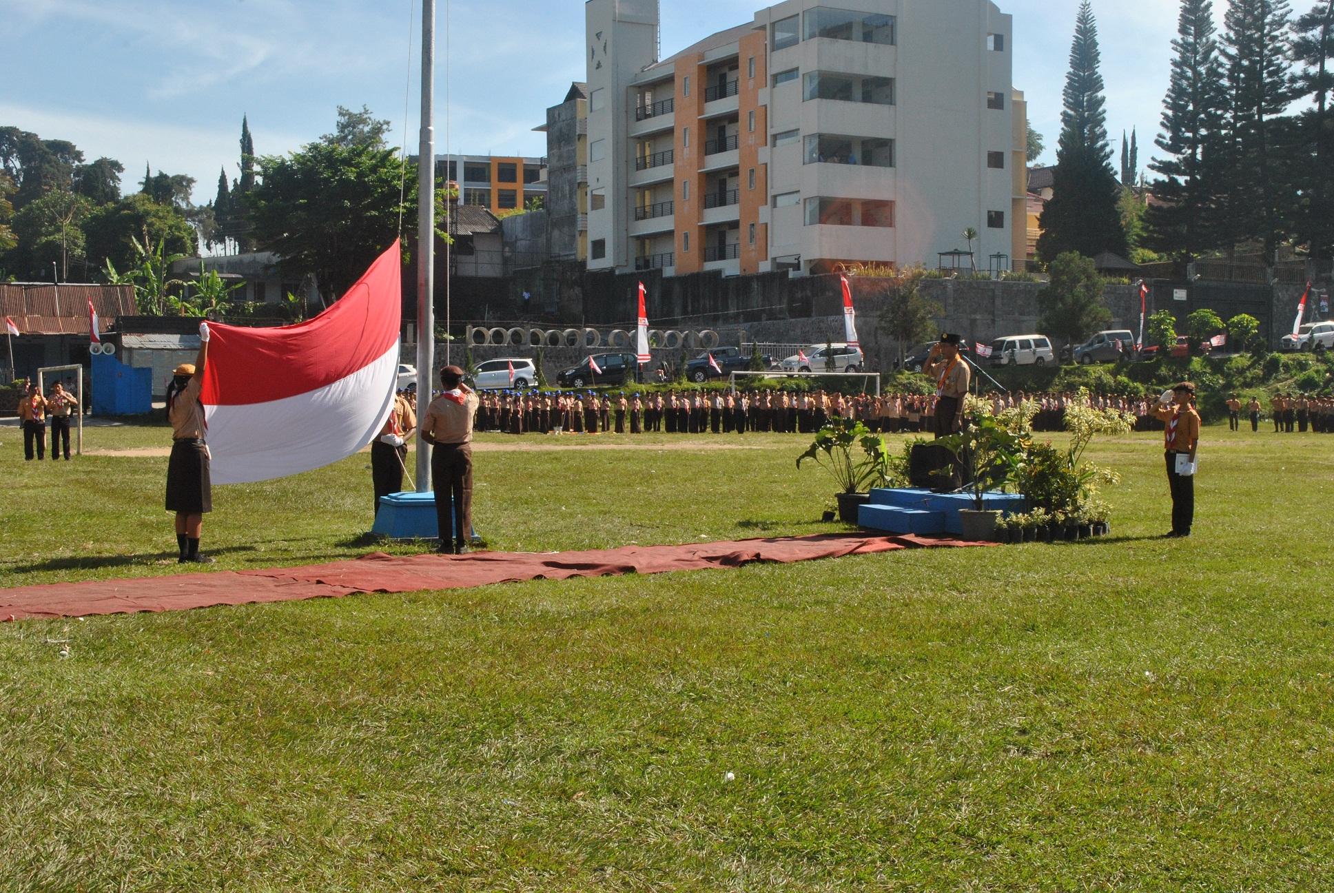 Upacara Peringatan Hari Pramuka Ke-52 Kabupaten Karanganyar