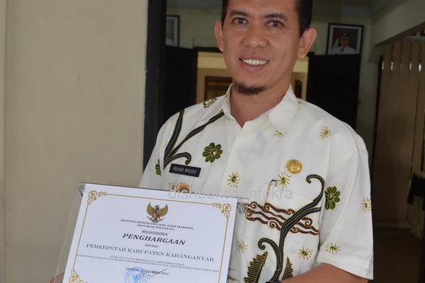 Karanganyar Raih Penghargaan Kabupaten Peduli Ham