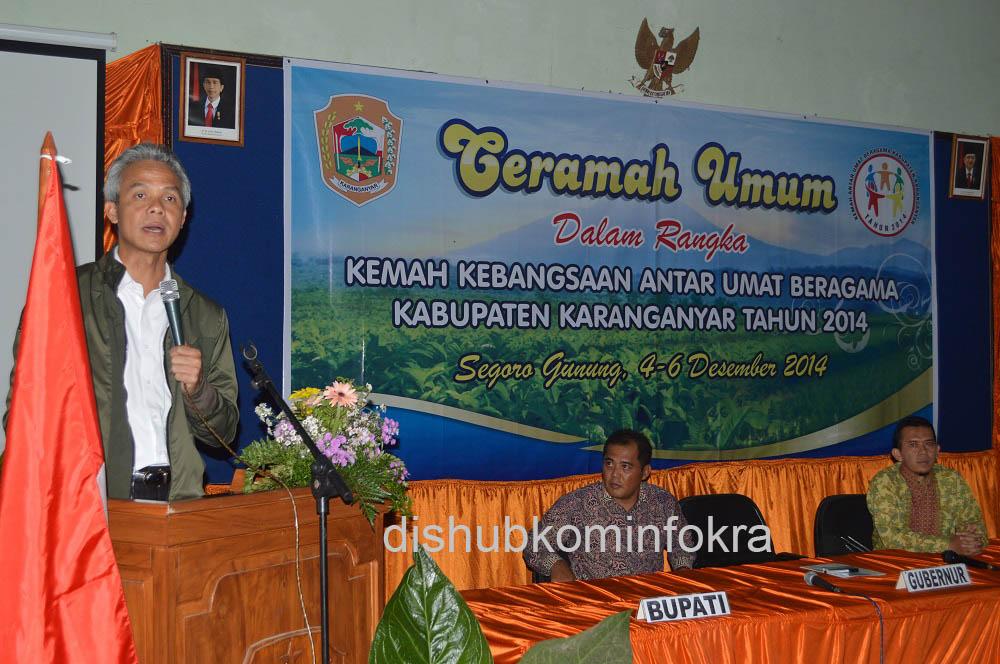 Gubernur Jawa Tengah Berikan Ceramah di Kemah Kebangsaan