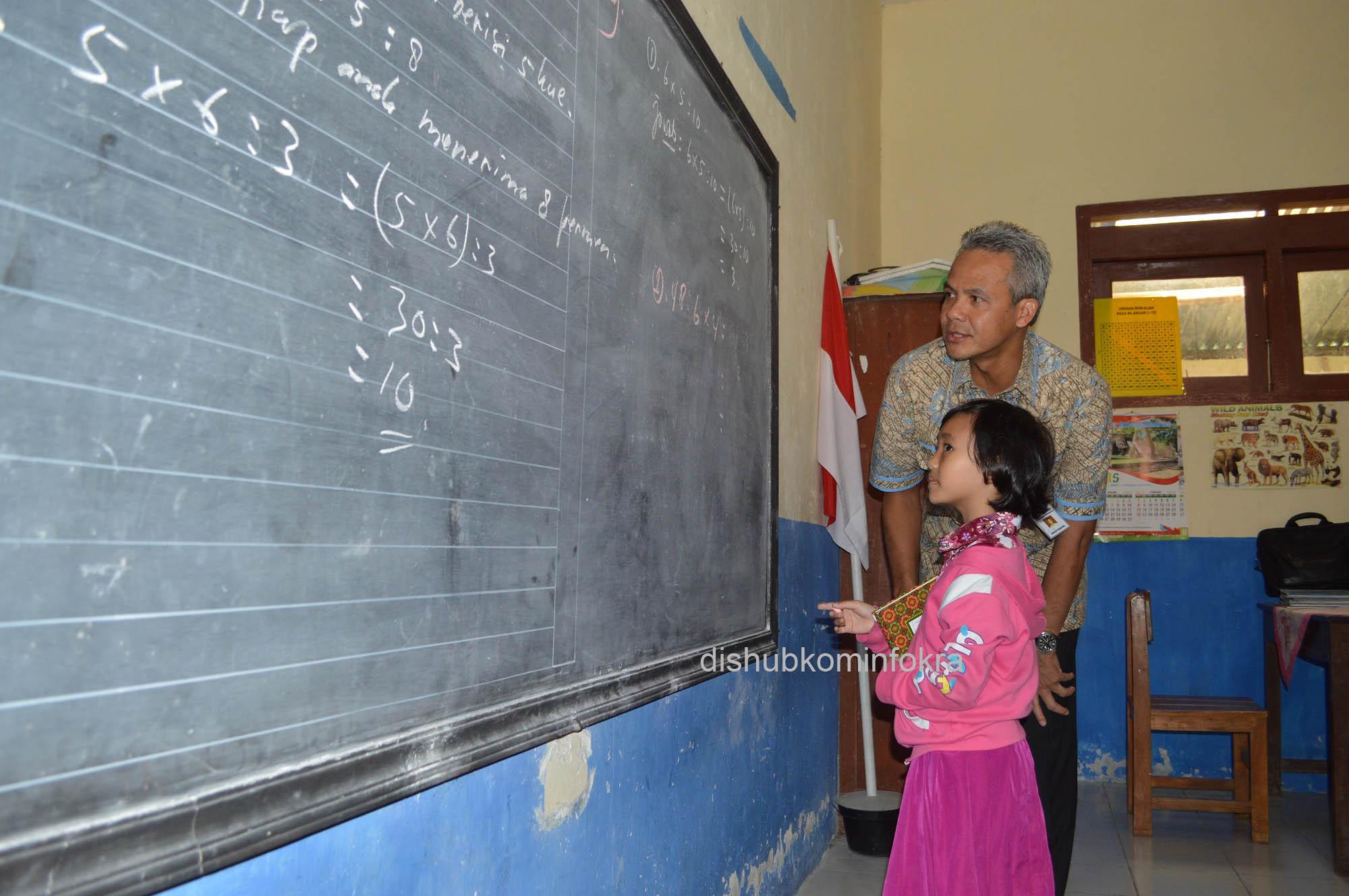 Saat Ganjar Pranowo Mengajar Di Sekolah