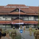 Upacara Hari Jadi ke 65 Provinsi Jawa Tengah di selenggarakan di Kabupaten Karanganyar berjalan khidmat
