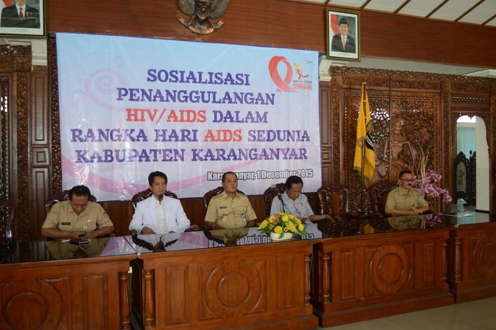 Sosialisasi Penanggulangan HIV/AIDS Kabupaten Karanganyar 2015