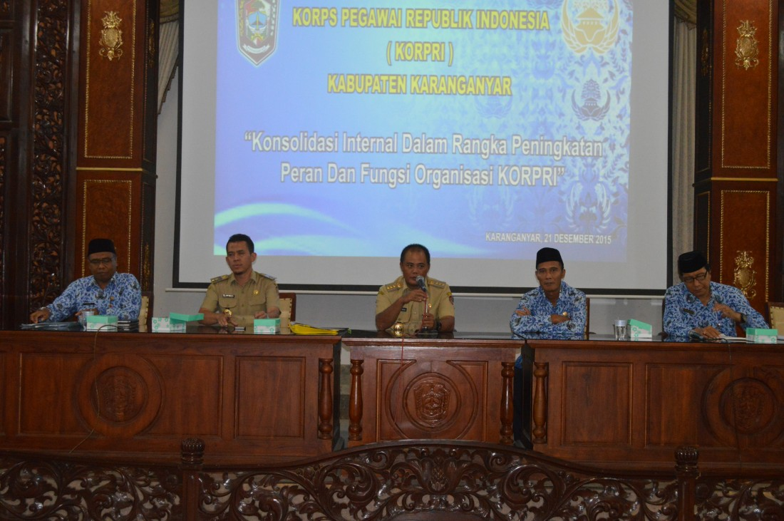 Rapat Kerja Korps Pegawai Republik Indonesia (KORPRI) Kabupaten Karanganyar