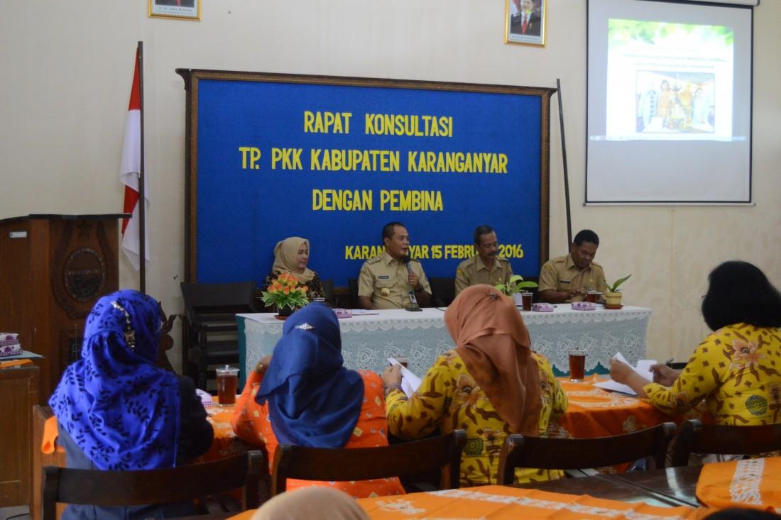 Rapat Konsultasi TP. PKK Kabupaten Karanganyar
