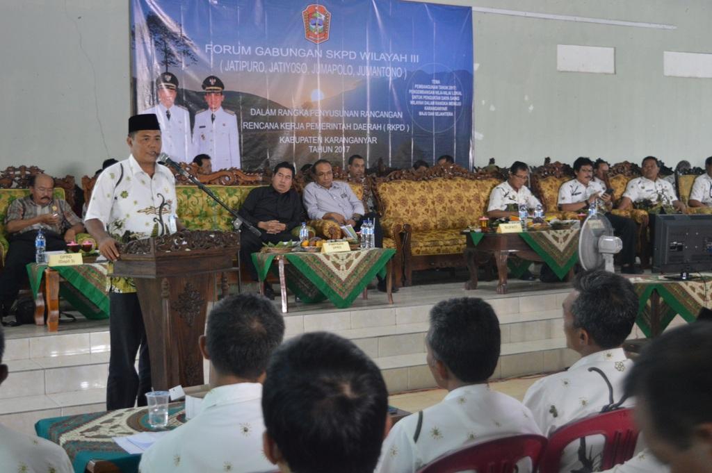 FORUM GABUNGAN  SKPD WILAYAH III KABUPATEN KARANGANYAR 2017