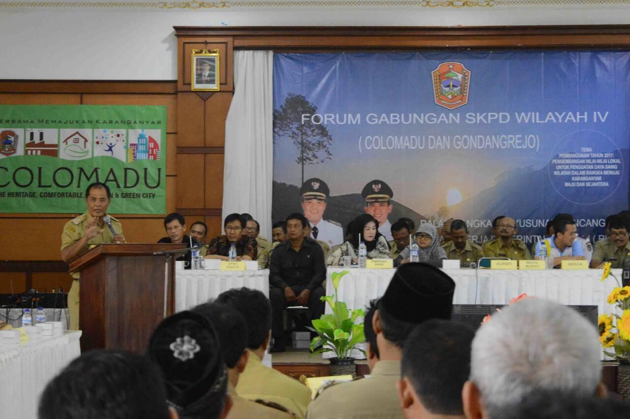 Forum Gabungan SKPD Wilayah IV Kabupaten Karanganyar