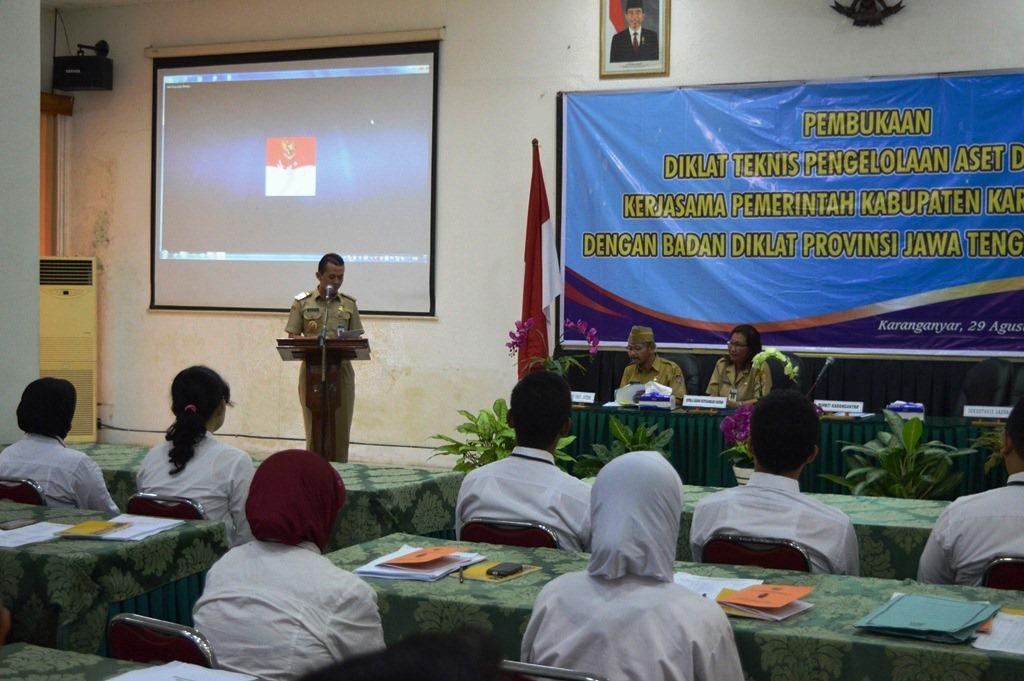 Pembukaan Diklat Teknis Pengelolaan Aset Daerah  Kabupaten Karanganyar Tahun 2016