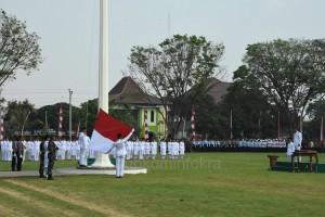 Upacara Pengibaran Bendera Detik-Detik Proklamasi Kemerdekaan ke-71 Republik Indonesia, di Kabupaten Karanganyar berlangsung khidmat dan meriah, Rabu (17/08) di Alun-alun Karanganyar.