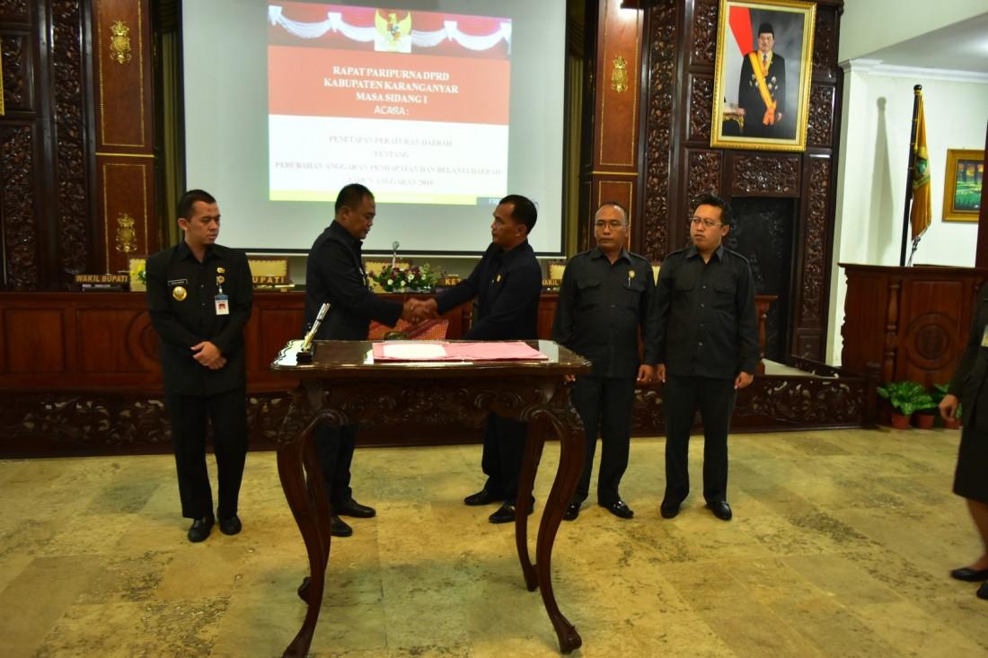 Penetapan Perda Tentang Perubahan Anggaran, DPRD Kabupaten Karanganyar Adakan Rapat Paripurna
