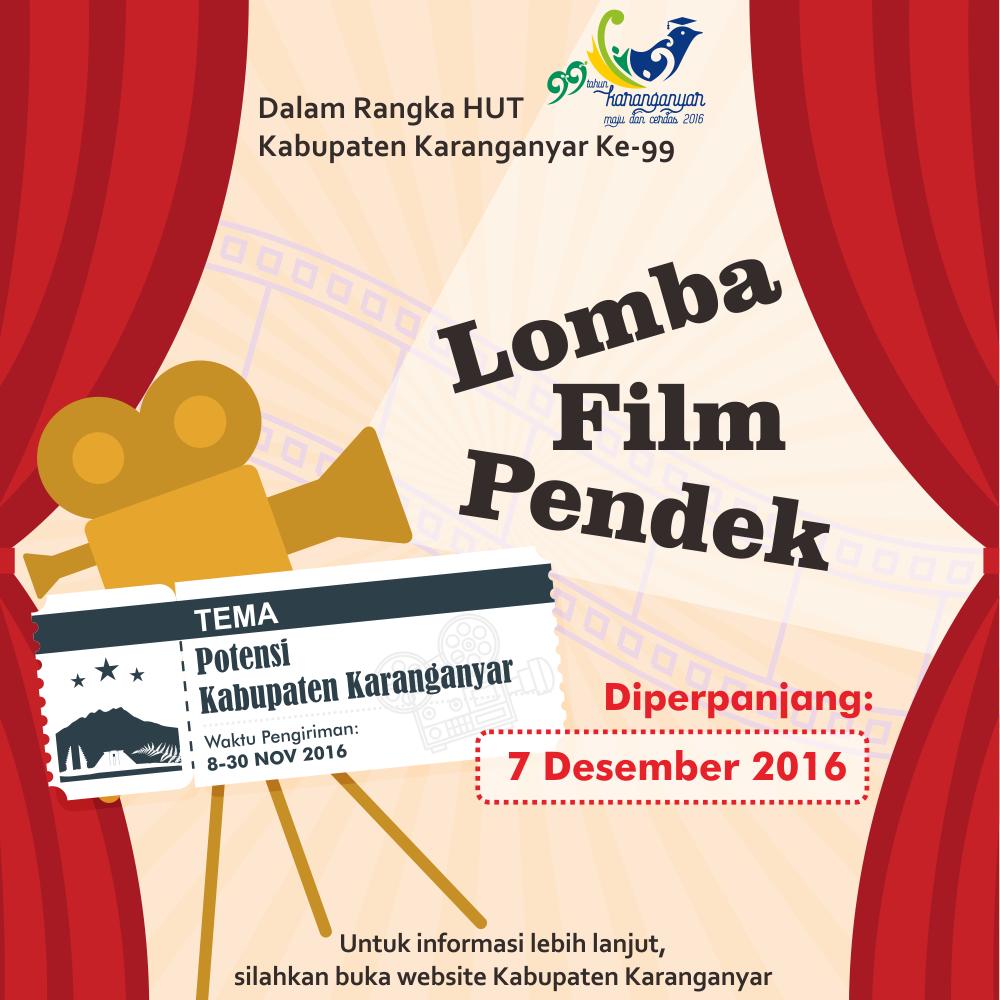 Lomba Film Pendek Dalam Rangka Hari Jadi Kabupaten Karanganyar Ke 99