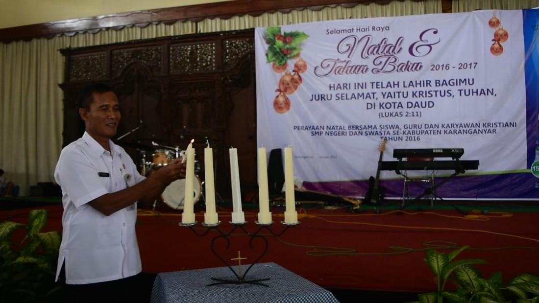 MGMP Agama Kristen Dan Katolik Rayakan Natal Bersama