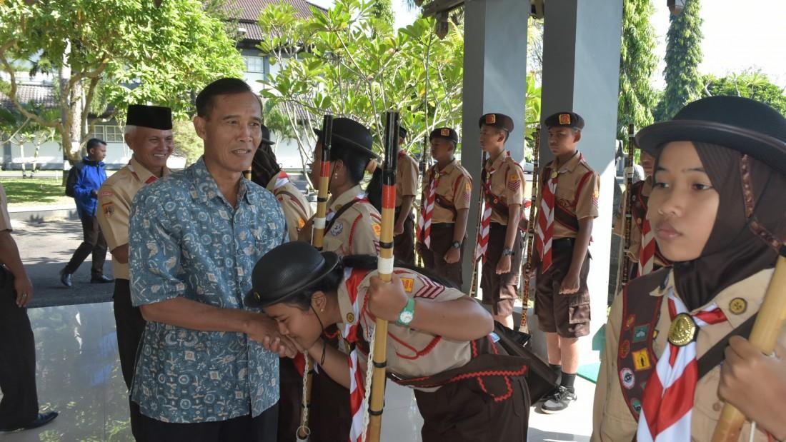 Kontingen Pramuka Karanganyar Ikuti LT-IV Kwarda Jateng 2017