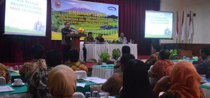 Perangkat Desa se Kabupaten Karanganyar Ikuti Bintek Pengelolaan Keuangan Desa