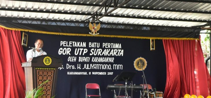 PELETAKAN BATU PERTAMA PEMBANGUNAN GOR UTP DI PLESUNGAN