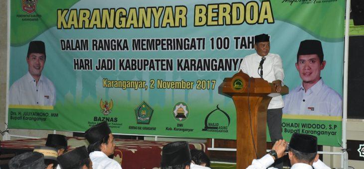 Doa Bersama Peringati 100 Tahun Kabupaten Karanganyar