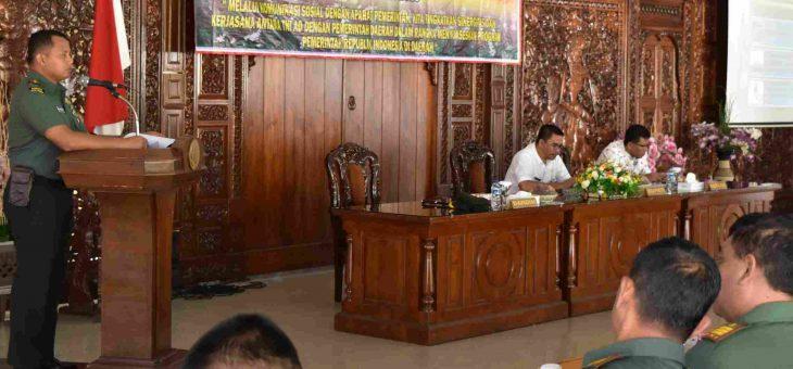 SINERGITAS TNI AD DAN PEMERINTAH PERLU DITINGKATKAN