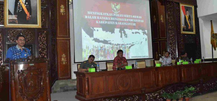 Sosialisasi Peran Serta Ormas dalam Rangka Menjaga Kondusivitas Karanganyar