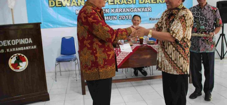 Rakerda Dekopinda Kabupaten Karanganyar Tahun 2018