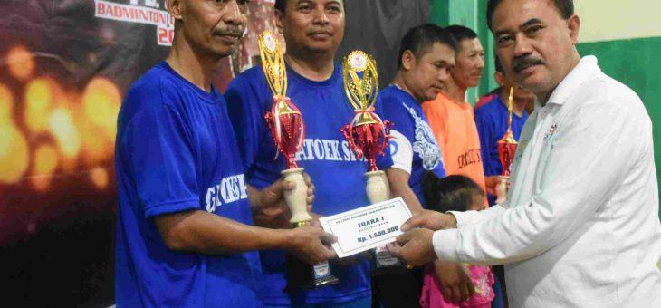PB Gatoek Dominasi Perebutan Juara Turnamen Bulutangkis Cakra Cup III