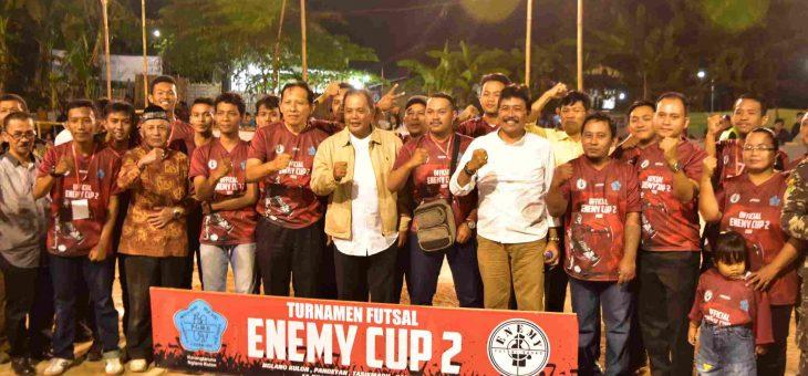 Turnamen Futsal bertajuk Enemy Cup Ke-2 di Nglano Kulon Pandeyan Kecamatan Tasikmadu