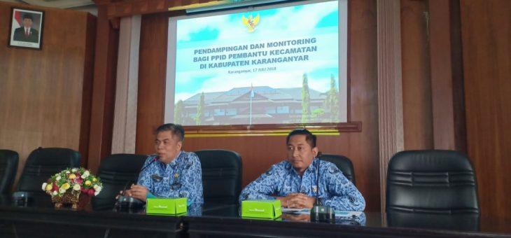 Optimalkan Peran PPID di level Kecamatan, PPID Utama Kabupaten Karanganyar lakukan Monitoring dan Evaluasi