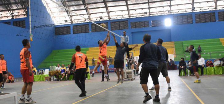 Pertandingan Persahabatan Bola Volley Antar Wartawan dan DPRD