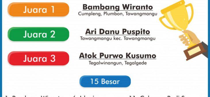 Pengumuman Pemenang Lomba Desain Logo Hari Jadi Ke-101 Kabupaten Karanganyar Tahun 2018