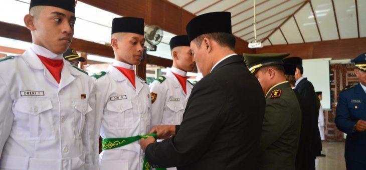 Pengukuhan Paskibraka Kabupaten Karanganyar Tahun 2018
