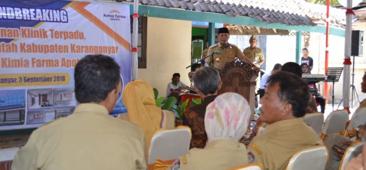 Ground Breaking Pembangunan Klinik Terpadu Kimia Farma