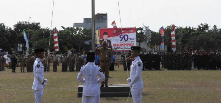 Upacara Peringatan Hari Sumpah Pemuda di Lapangan RM Said Karanganyar