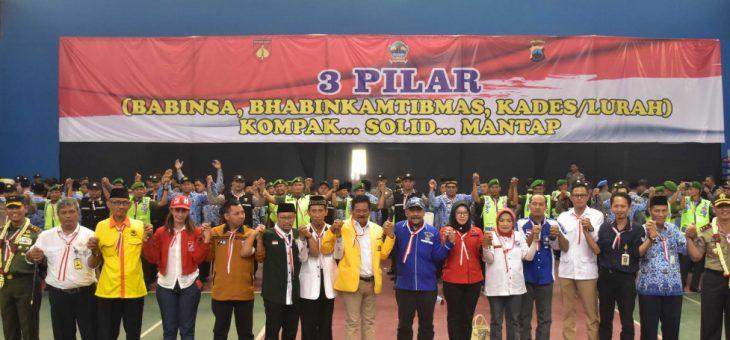 Kapolda Jateng Dan Pangdam IV Diponegoro Pimpin Apel 3 Pilar di Karanganyar