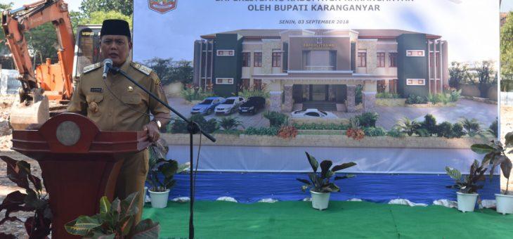 Peletakan Batu Pertama Pembangunan Gedung Kantor Baperlitbang