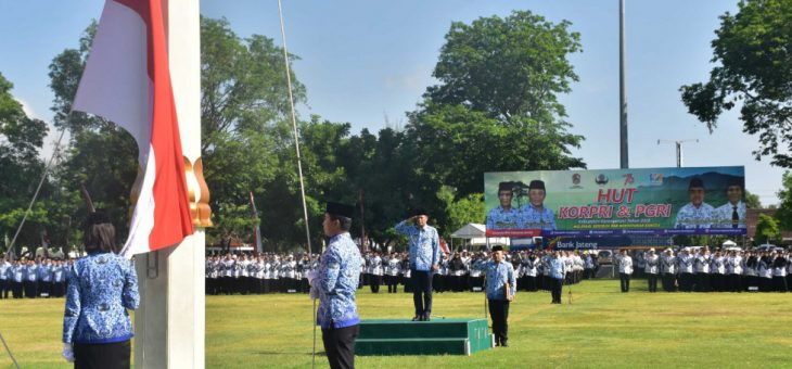 Upacara Bendera Hari Korpri Ke-47 dan PGRI ke-72