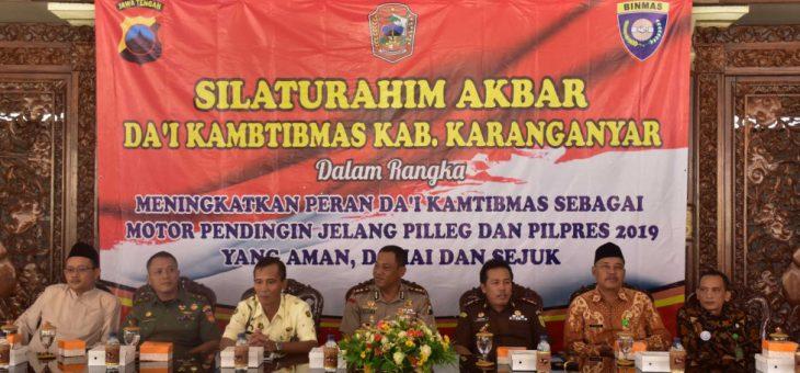 Silaturahmi Akbar Da'I Kamtibmas Jelang PilLeg Dan PilPres 2019