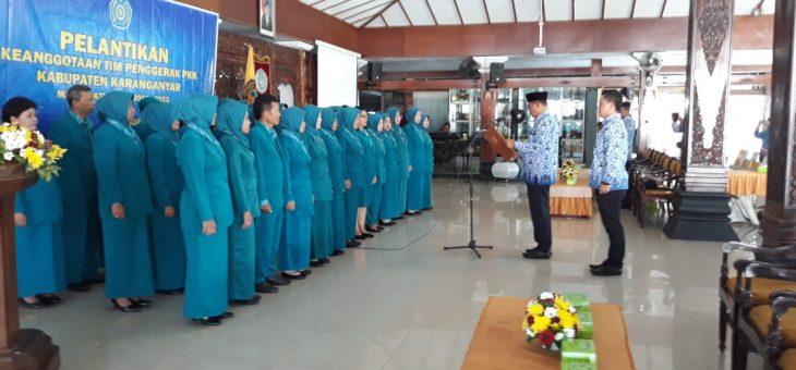 Pelantikan Keanggotaan Tim Penggerak PK Kabupaten Karanganyar