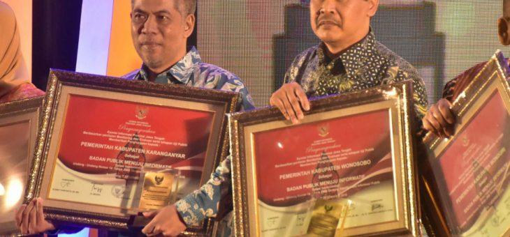 Penganugrahan Penghargaan Keterbukaaan Informasi Publik (KIP) AWARD Tahun 2018