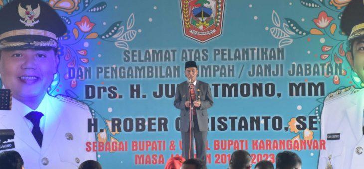 Syukuran Pelantikan Bupati dan Wakil Bupati Karanganyar di Kampung Laut Semarang