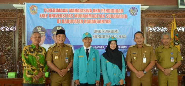 Penerimaan Mahasiswa KKN Pendidikan FKIP UMS di Kabupaten Karanganyar
