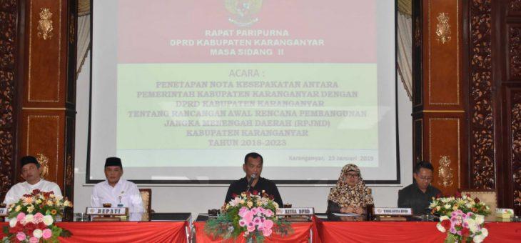Rapat Paripurna Penetapan Nota Kesepakatan Tentang Rencana Awal RPJMD