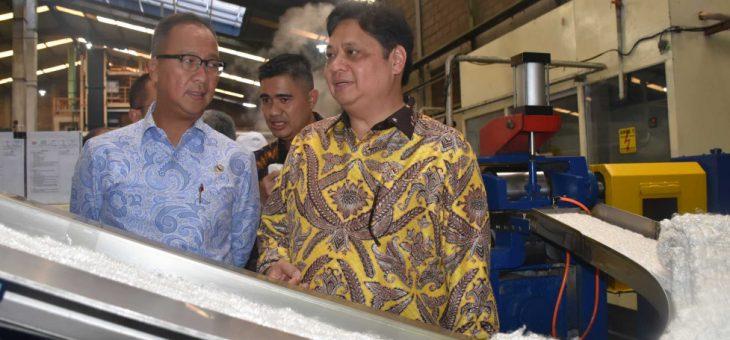 Menteri Perindustrian Dorong Industri Recycle Di Gondangrejo, Karanganyar