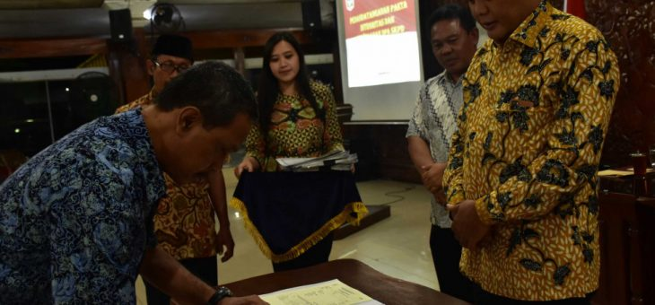 Penandatanganan Fakta Integritas Dan Penyerahaan DPA SKPD