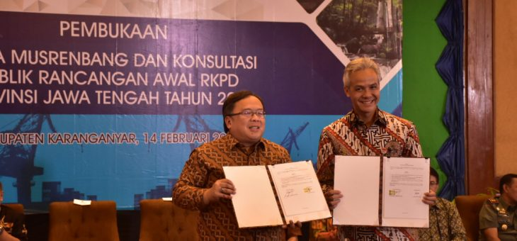 Musrenbang dan Konsultasi Publik Rancangan Awal RKPD tahun 2020 Jawa Tengah Digelar di Lor In Hotel