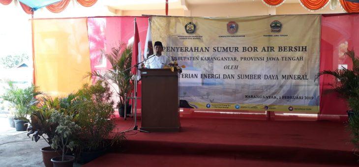 Peresmian Sumur Bor Air Bersih Di Desa Tugu, Kecamatan Jumantono