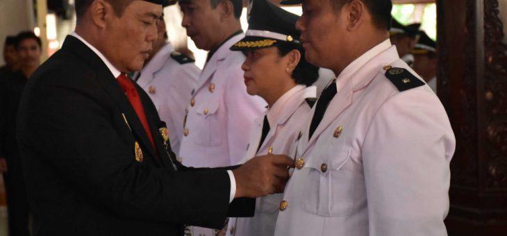 Pelantikan Kades Terpilih di Kabupaten Karanganyar