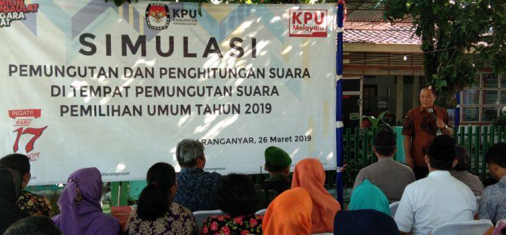 Simulasi Pemungutan dan Penghitungan Suara di TPS Dalam Pemilu Tahun 2019