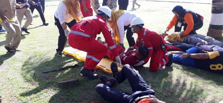 Latihan Simulasi Bencana Di Kantor Setda Karanganyar