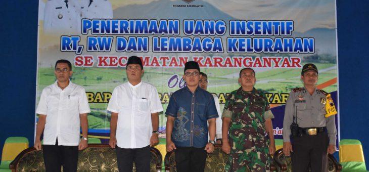 Penerimaan Uang Insentif RT, RW Dan Lembaga Kelurahan