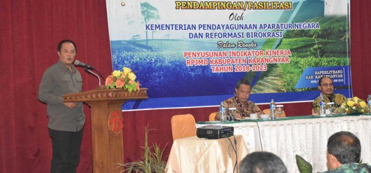 Pendampingan/Fasilitasi Penyusunan Indikator Kinerja RPJMD Kabupaten Karanganyar Tahun 2018–2023