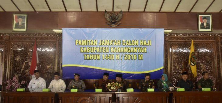Pamitan Jama'ah Calon Haji Kabupaten Karanganyar Tahun 1440 H/2019 M